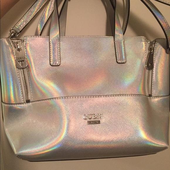 Handbags - Guess Doheny Metallic Satchel 3da07dc7ebe9d